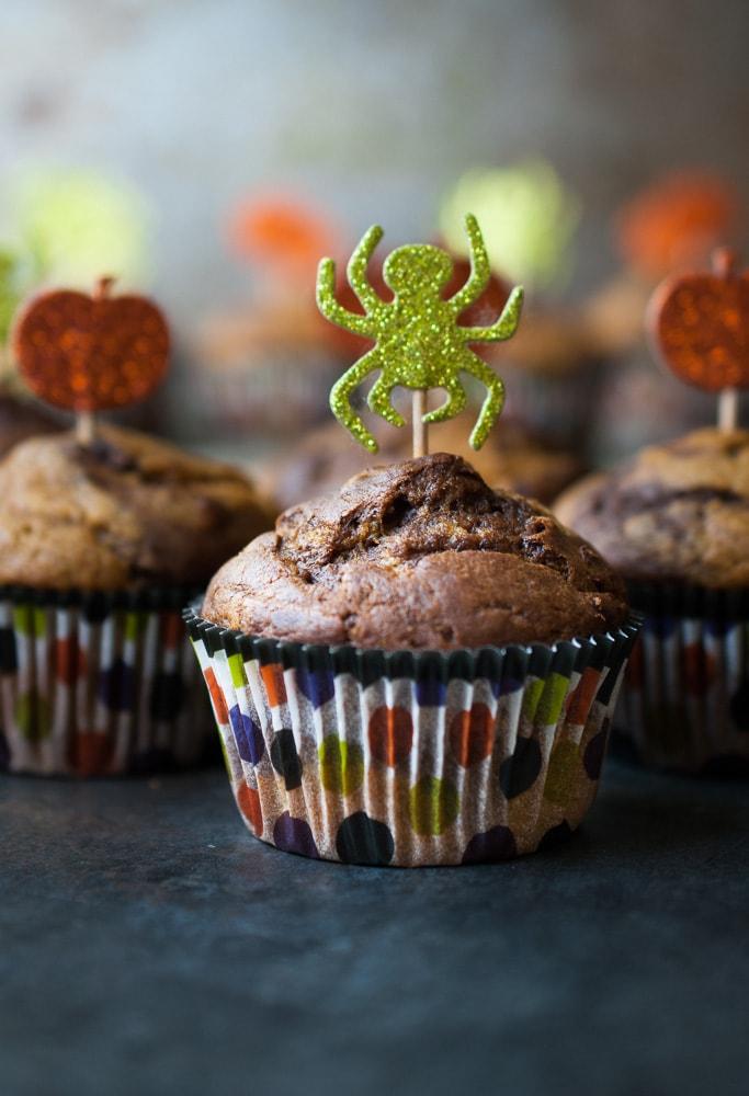 Pumpkin Chocolate Swirl Muffins