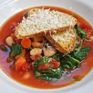 Minestrone Soup with Parmesan Bruschetta