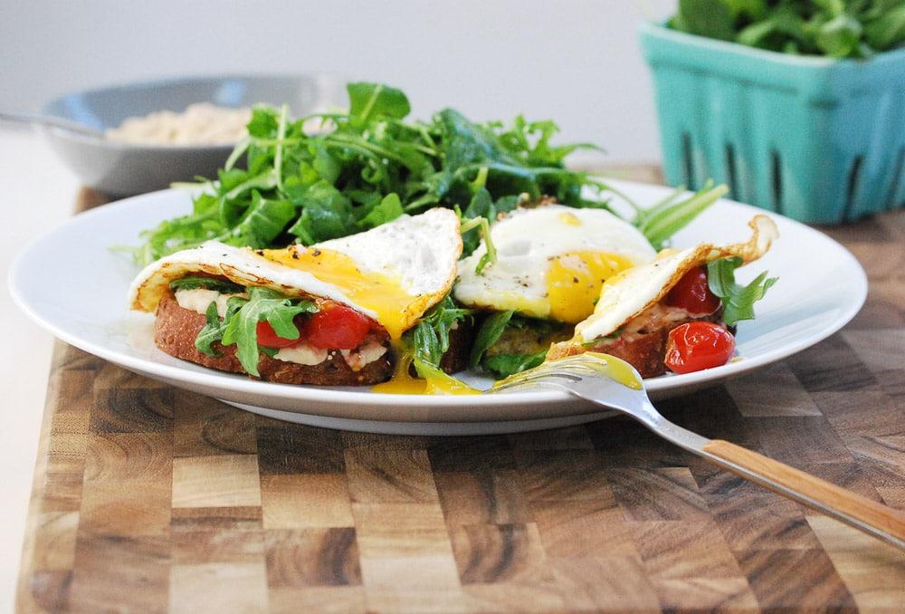 Egg and Bean Sandwich