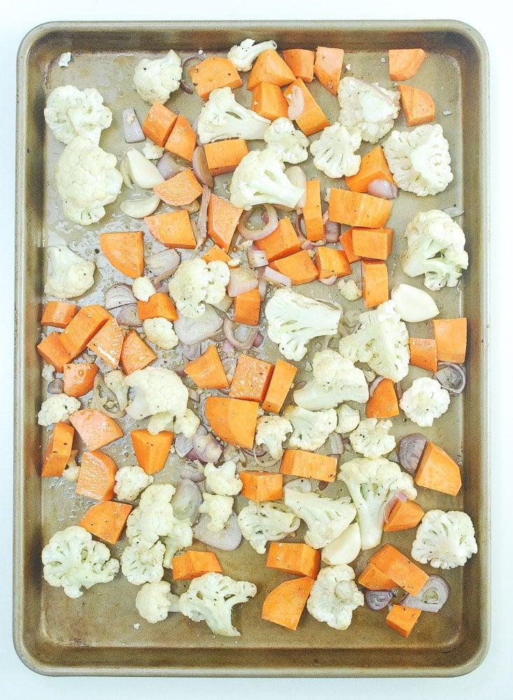 Sweet Potato and Cauliflower Soup
