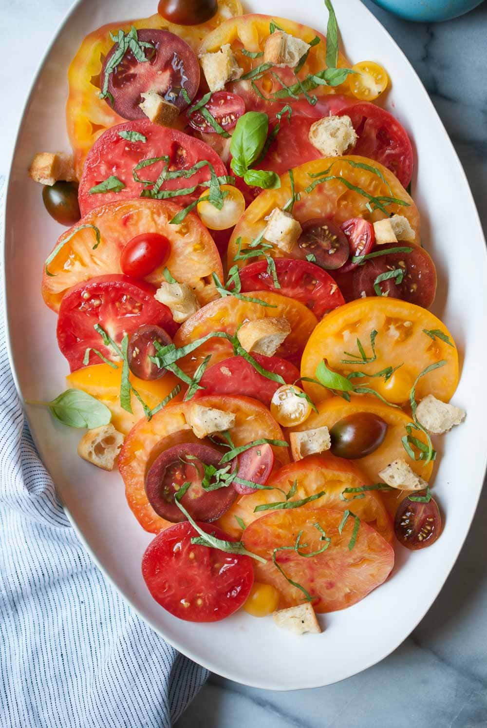 Heirloom Tomato Salad W Homemade Croutons Life Is But A