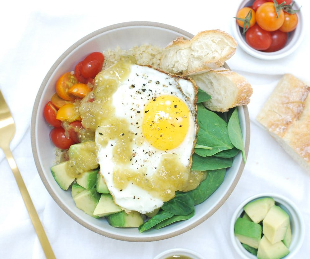 Parmesan Quinoa Bowl with Fried Egg-2