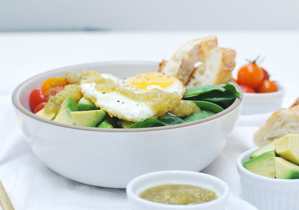 Parmesan Quinoa Bowl with Fried Egg-3