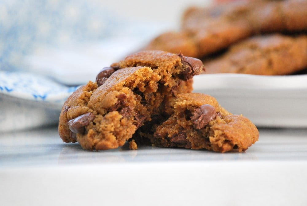 Gluten Free Peanut Butter Chocolate Chip Cookies-4