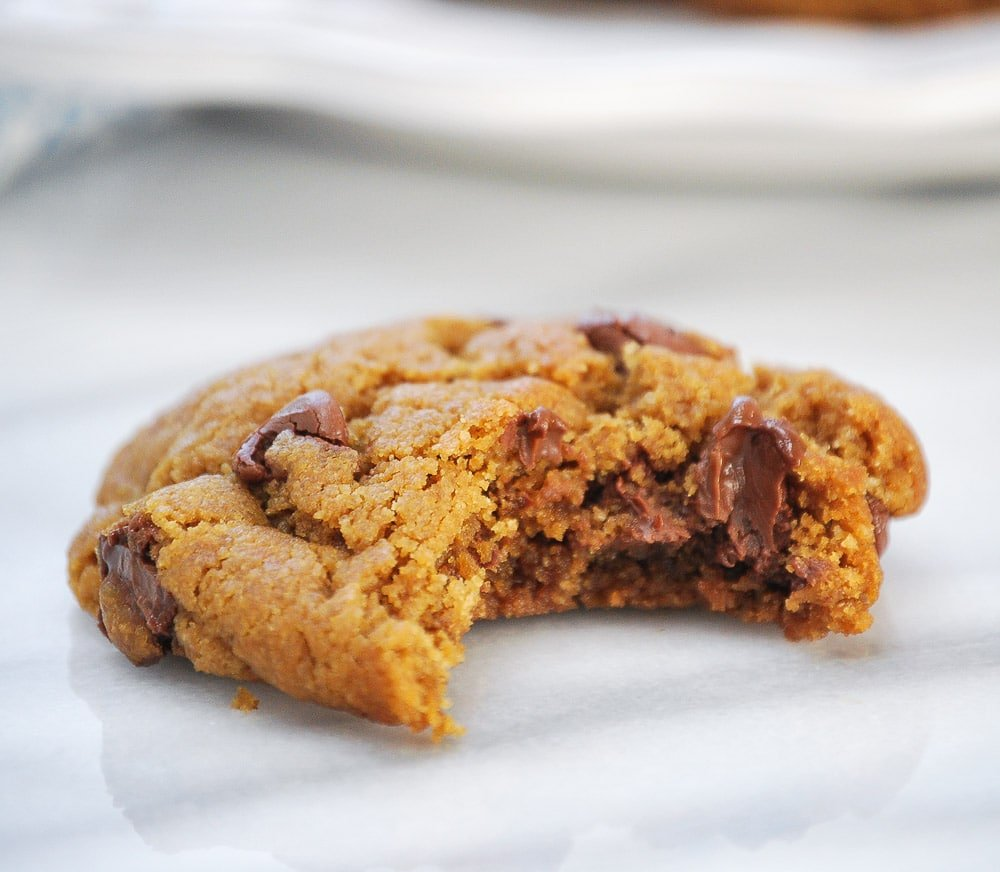 Gluten Free Peanut Butter Chocolate Chip Cookies-5