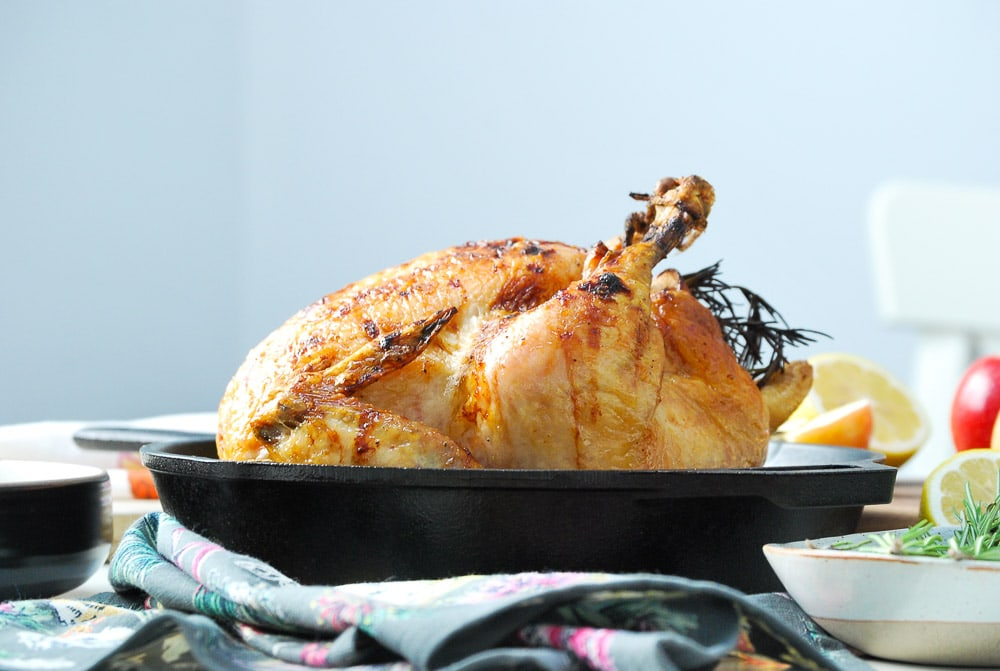 Honey Glazed Apple Roast Chicken-4