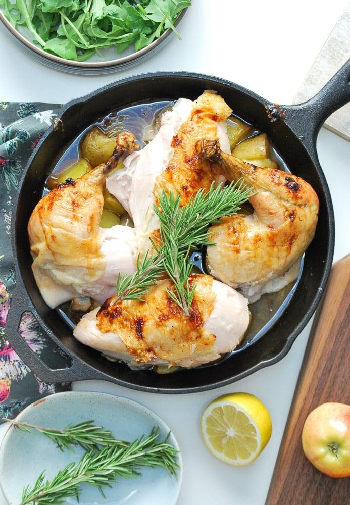 Honey Glazed Apple Roast Chicken-7