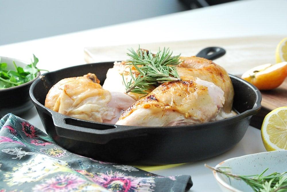 Honey Glazed Apple Roast Chicken-8