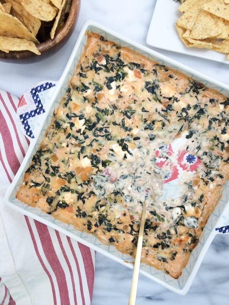 Spinach Peach Salsa Dips-2