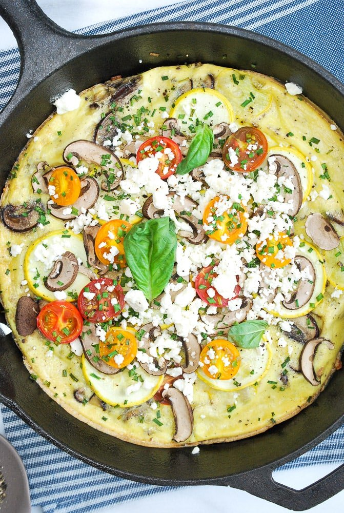 Zucchini Mushroom Frittata-4