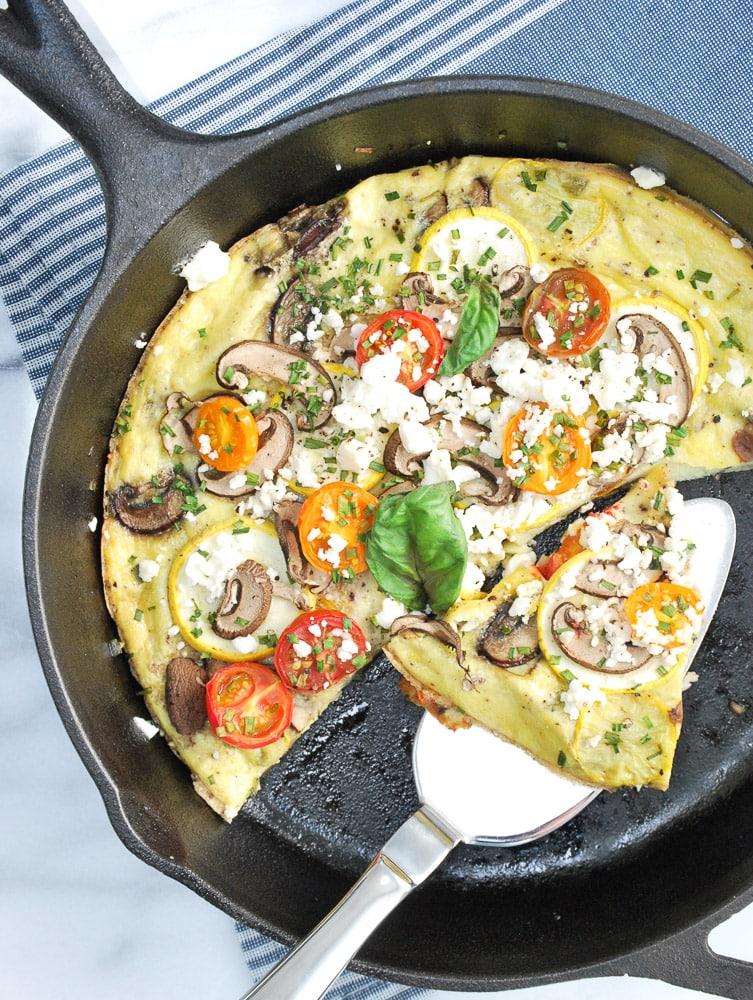 Zucchini Mushroom Frittata-6