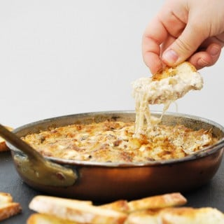 Cheesy Caramelized Onion & Mushroom Dip