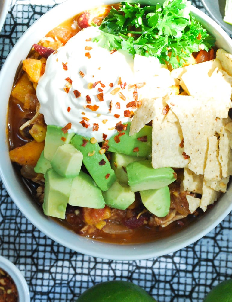 Slow Cooker Sweet Potato and Chicken Chili-4