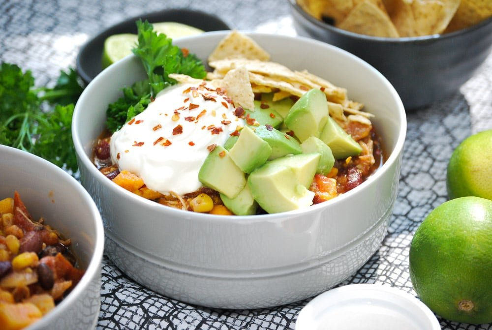 Slow Cooker Sweet Potato and Chicken Chili-7