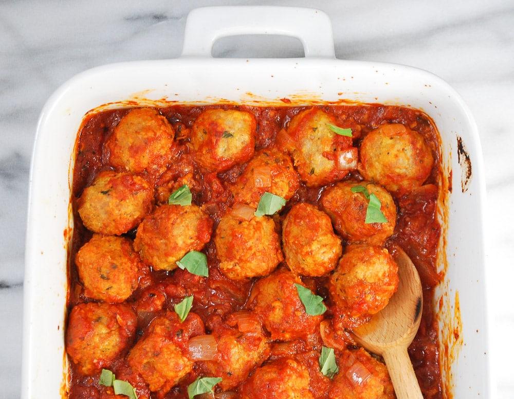 Turkey and Chicken Sausage Meatballs-3