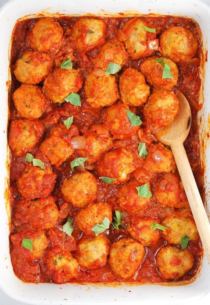 Turkey and Chicken Sausage Meatballs-4