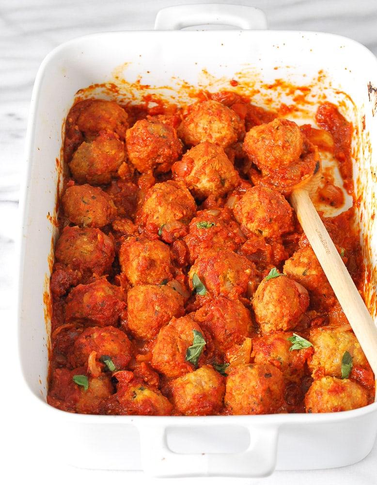 Turkey and Chicken Sausage Meatballs-5