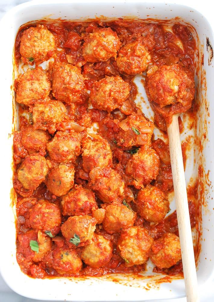 Turkey and Chicken Sausage Meatballs-6