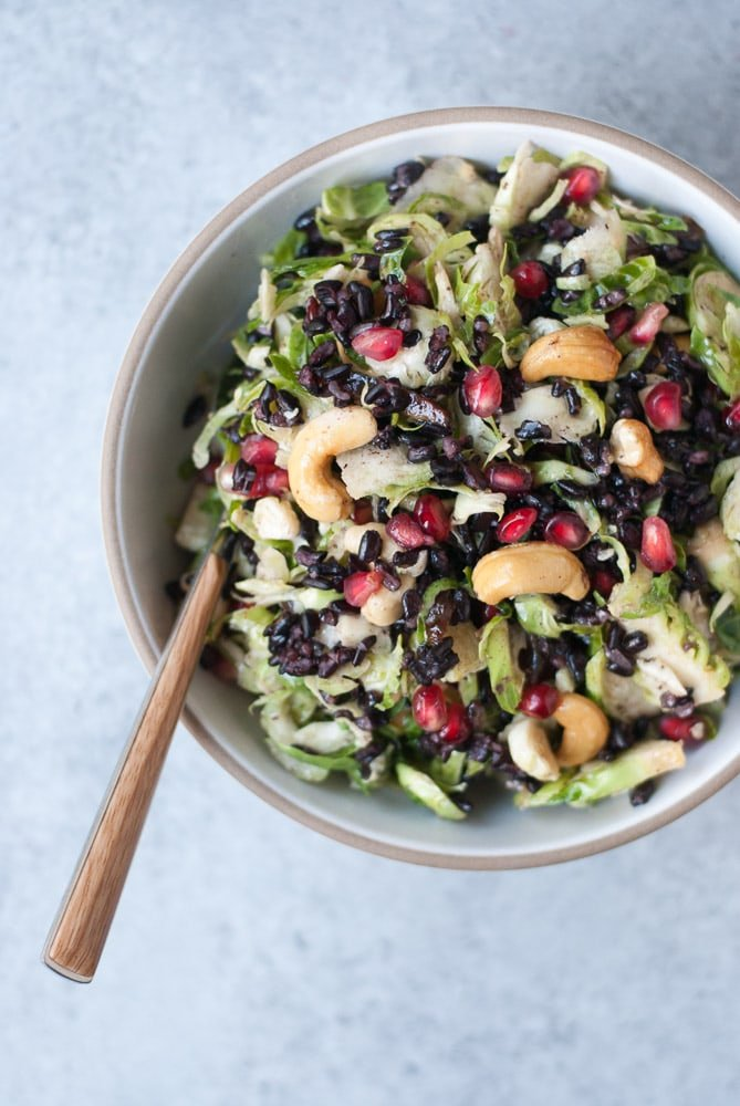 Shaved Brussels Sprouts Salad with Lemon Caper Dressing-6