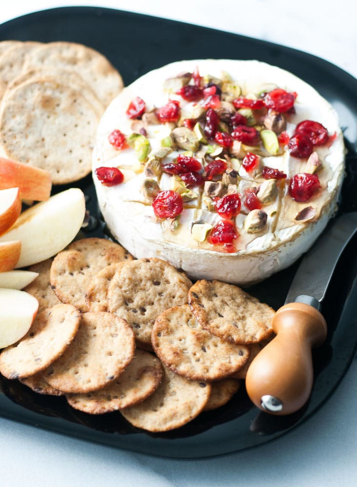 Baked Brie w/ Honey, Cranberries, & Pistachios | Life is ...
