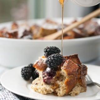 Baked Multigrain Blackberry French Toast