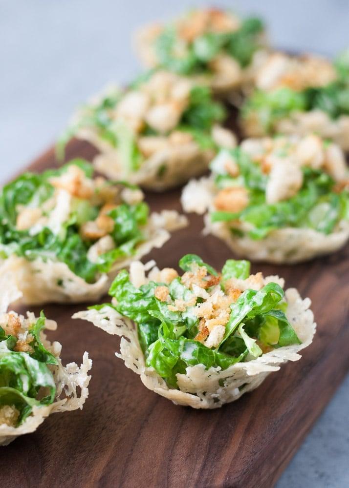 Mini Chopped Ceasar Salad Cups-5