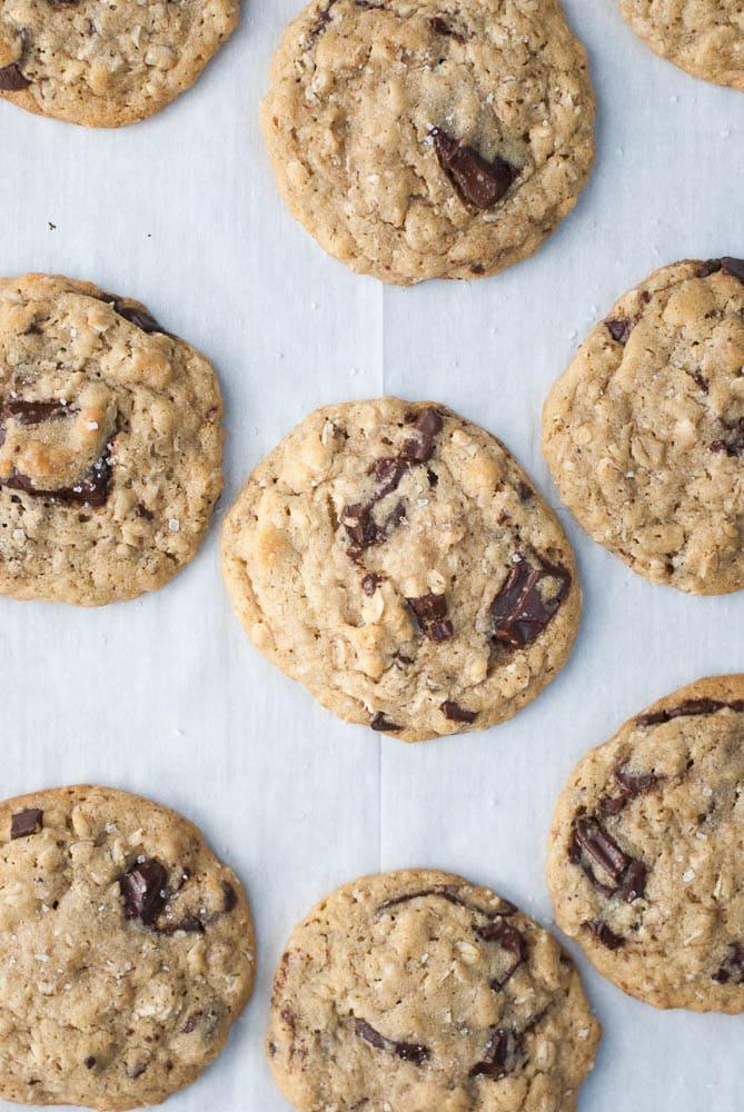 Dark Chocolate Chunk Oatmeal Peanut Butter Cookies-3