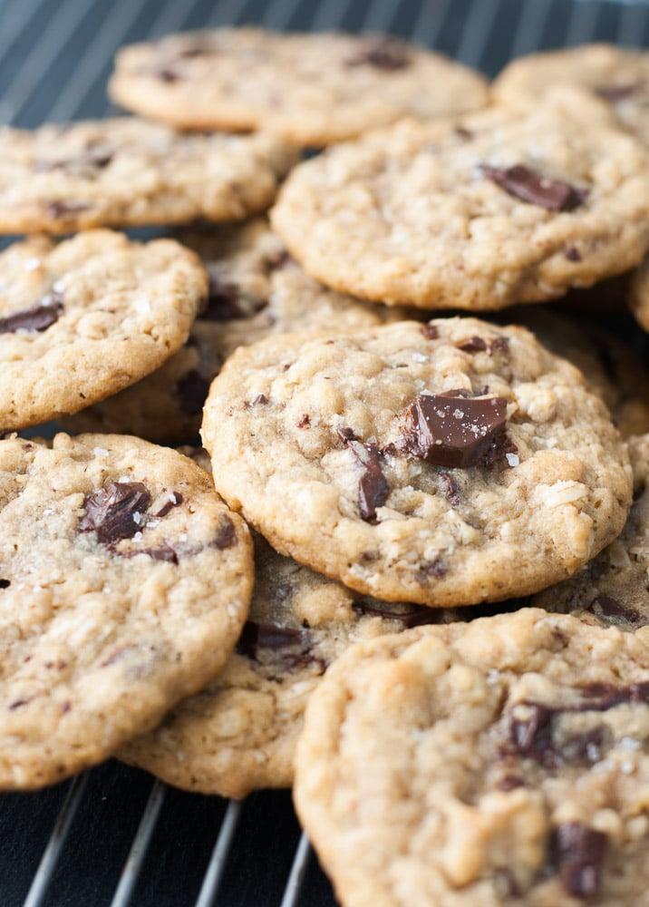 Dark Chocolate Chunk Oatmeal Peanut Butter Cookies-5