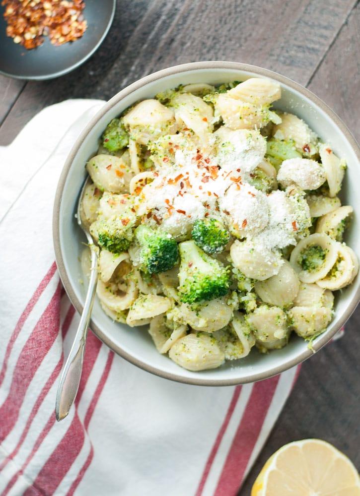 Orecchiette with Broccoli Sauce-4