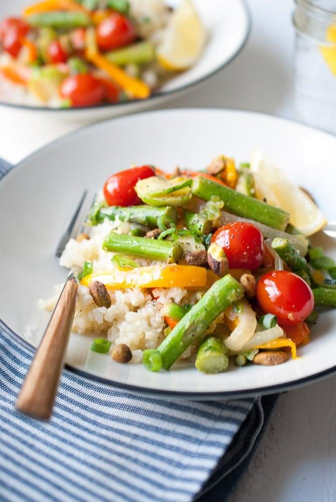 Cauliflower Rice Veggie Bowls-4