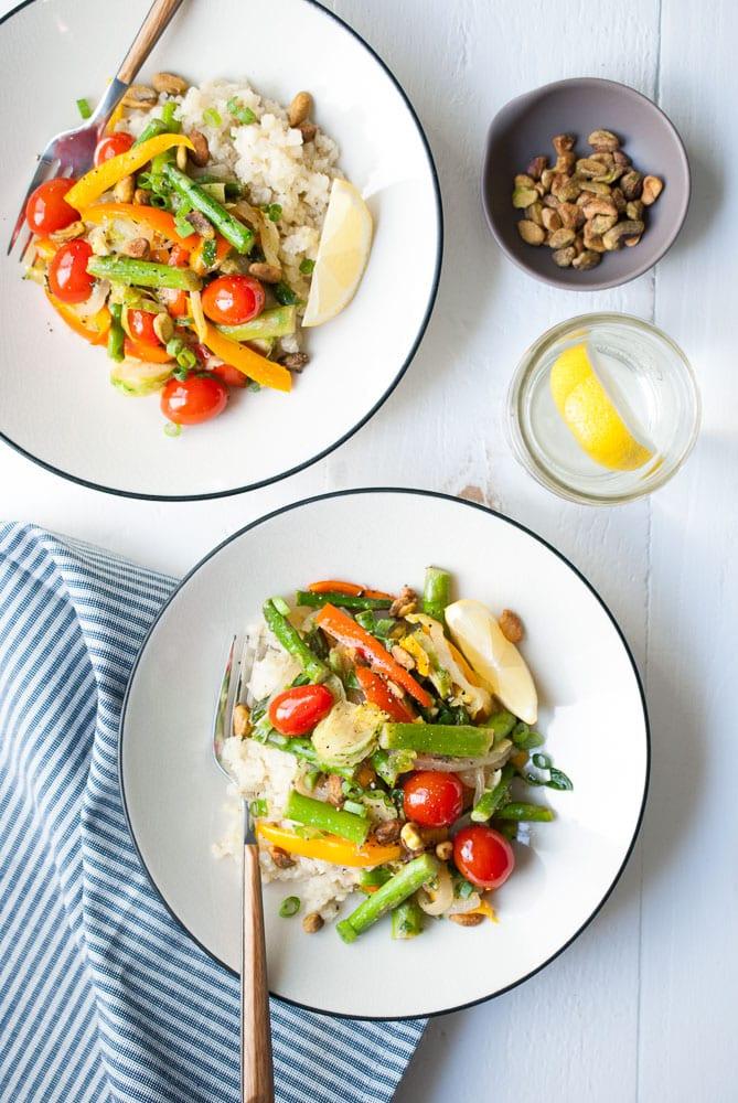 Cauliflower Rice Veggie Bowls-5