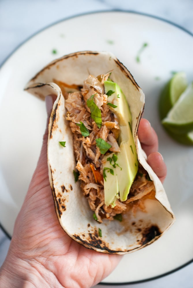 Easy Slow Cooker Chicken Fajitas-5