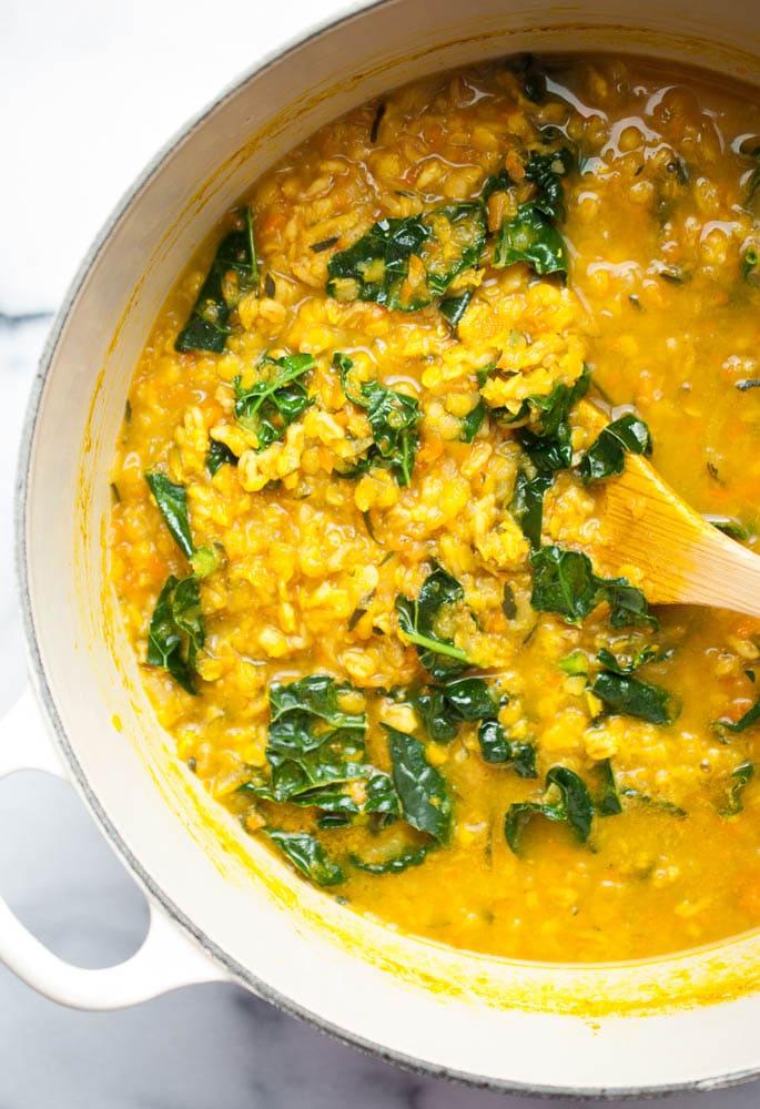 Healing Turmeric Lentil & Farro Soup-3