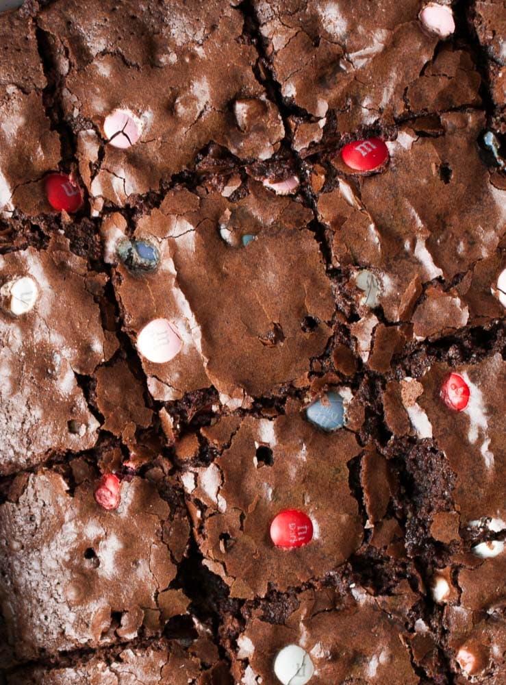 M & M Cookie Brownie Bars-2