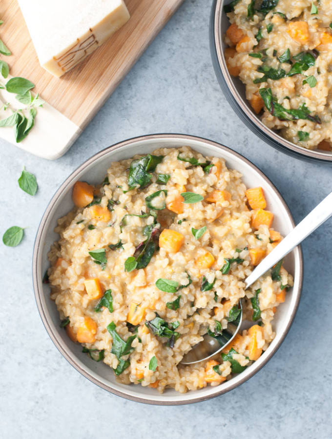 Sweet Potato & Red Chard Brown Rice Risotto