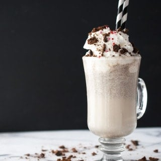 Thin Mint Milkshake w/ Peppermint Whipped Cream