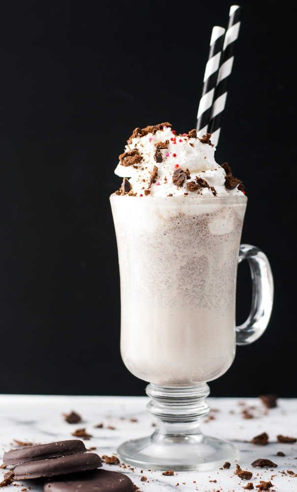 Thin Mint Milkshake w- Peppermint Whipped Cream