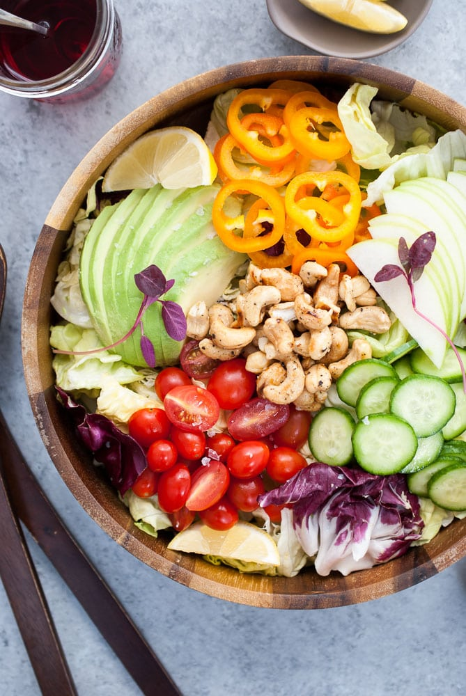 Butter Lettuce Salad with Salt & Pepper Honey Cashews-2