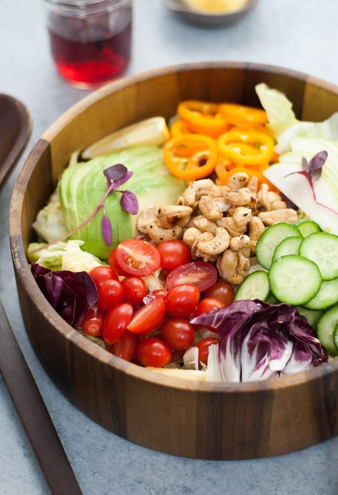 Butter Lettuce Salad with Salt & Pepper Honey Cashews-4