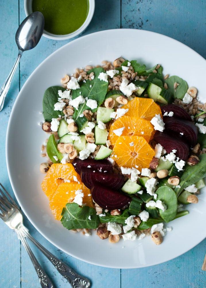 Farro, Roasted Beet, & Citrus Salad-2