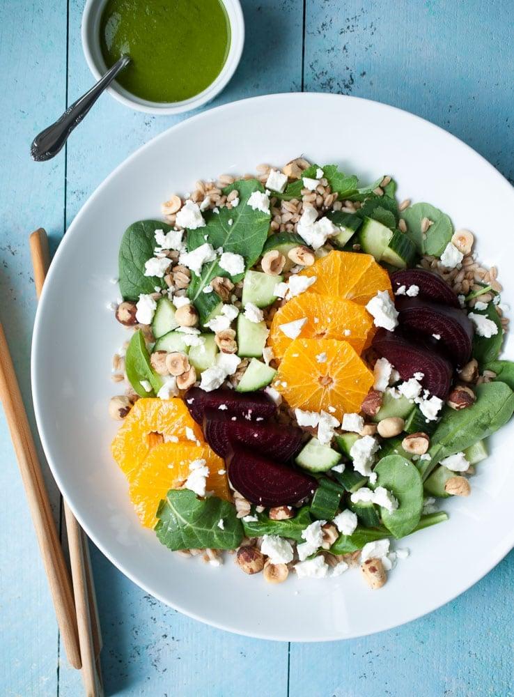 Farro, Roasted Beet, & Citrus Salad-4