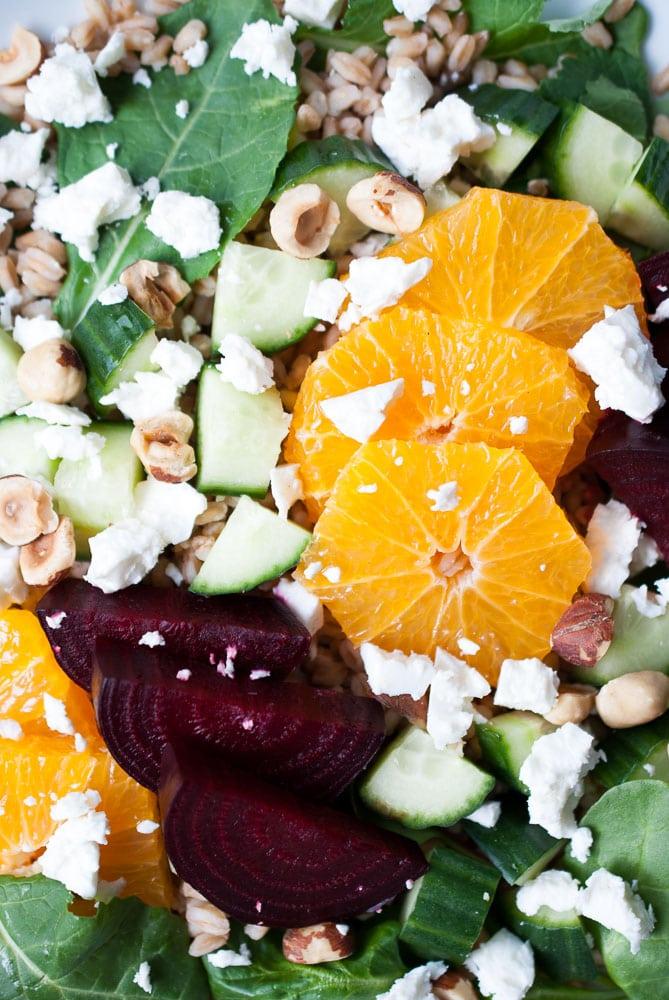 Farro, Roasted Beet, & Citrus Salad-5