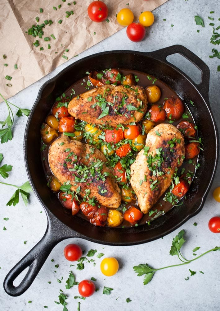 Balsamic Mustard Chicken W Cherry Tomatoes Life Is But A Dish
