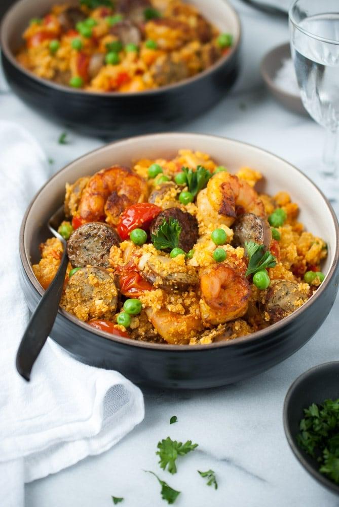 Cauliflower Rice Paella-4