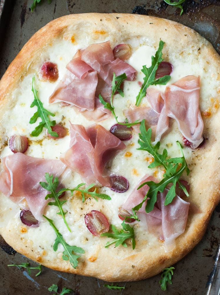 Mozzarella, Prosciutto, & Roasted Grape Pizza-3