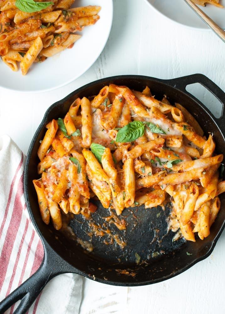 Parmesan Chicken Baked Ziti-7