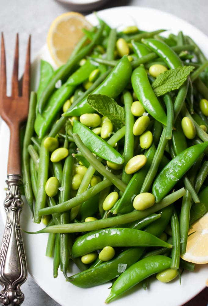 Simple Snap Pea & Green Bean Salad-5