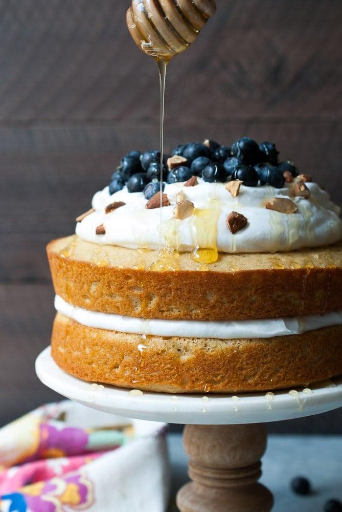Lemon Blueberry Olive Oil Cake W Coconut Whipped Cream Life Is