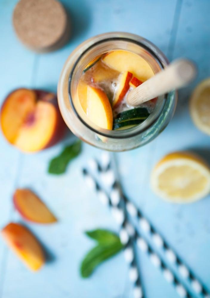 Sparkling Peach & Cucumber Lemonade_-3