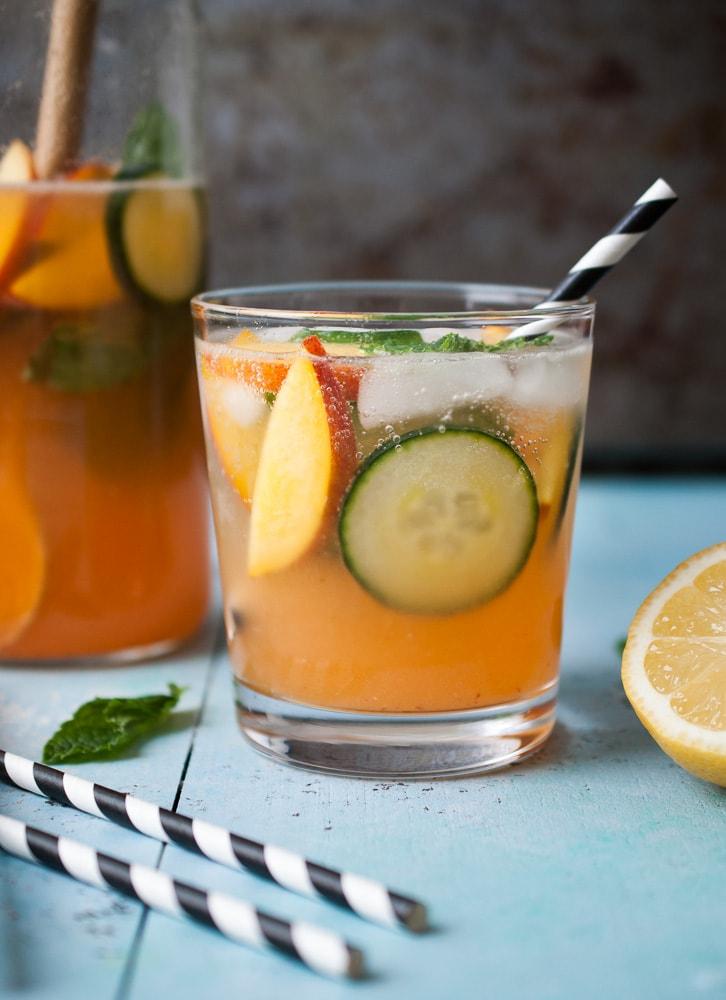 Sparkling Peach & Cucumber Lemonade_-5